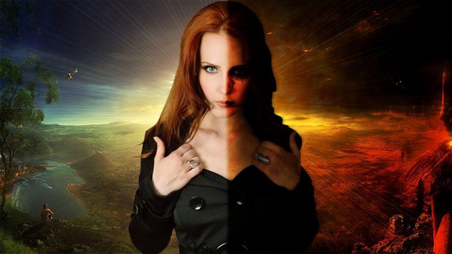EPICA Simone Simons symphonic metal power heavy wallpaper