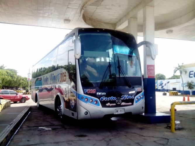 Cootracegua Costa Line V-005 AGA Spirit Volvo B9R Buses Colombianos Colombian Coach wallpaper