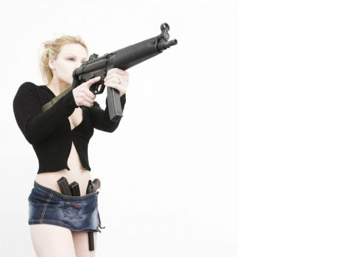 ARMED AND DANGEROUS - girl guns wallpaper