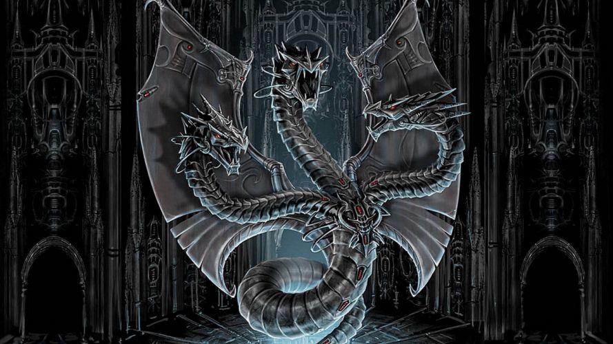 METALLIC DRAGON - Fantasy wallpaper