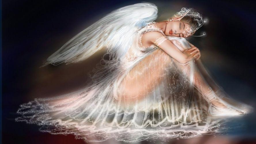 SLEEPING ANGEL - Fantasy girl wallpaper