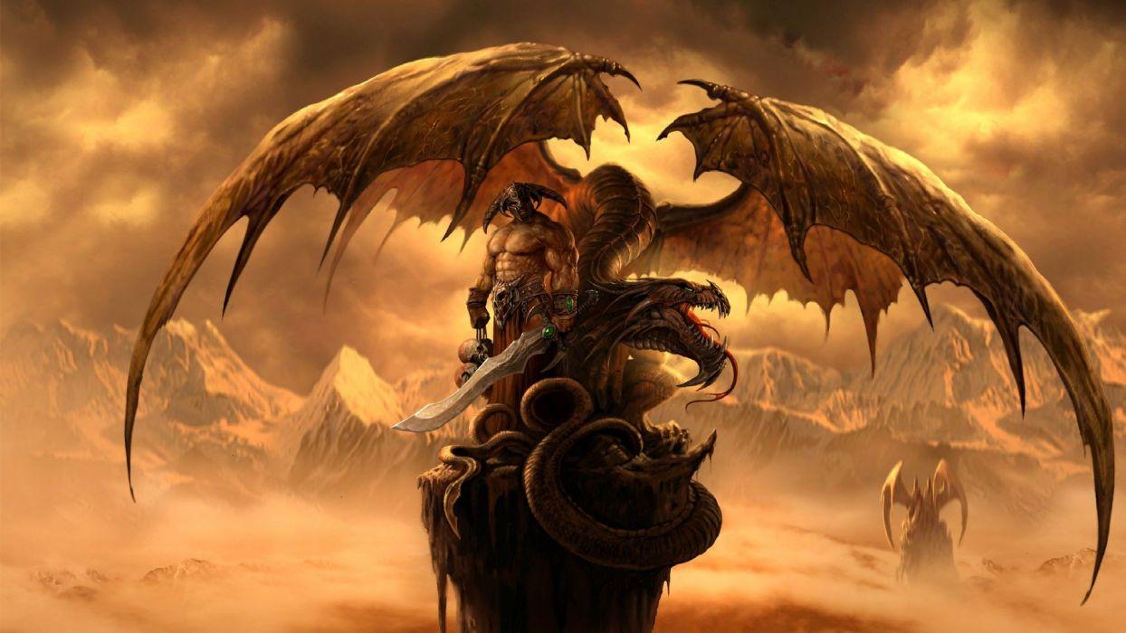 TO EACH HIS OWN - warrior dragon sword wallpaper