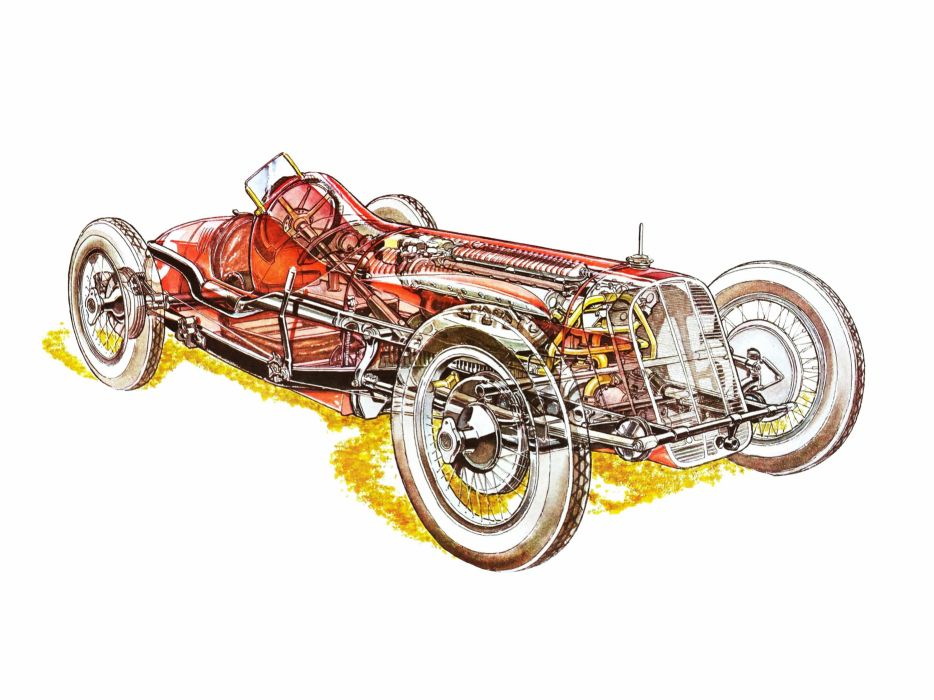 1927 Fiat 806 Corsa race racing retro wallpaper