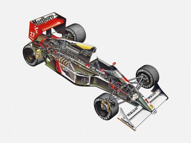 1990 McLaren Honda MP4-5B F-1 formula race racing wallpaper