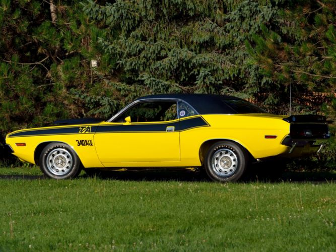 1970 Dodge Challenger T-A 340 Six Pack muscle classic wallpaper