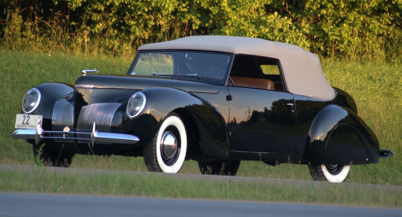 1939 Lincoln Zephyr Continental Mark-I Prototype retro luxury wallpaper