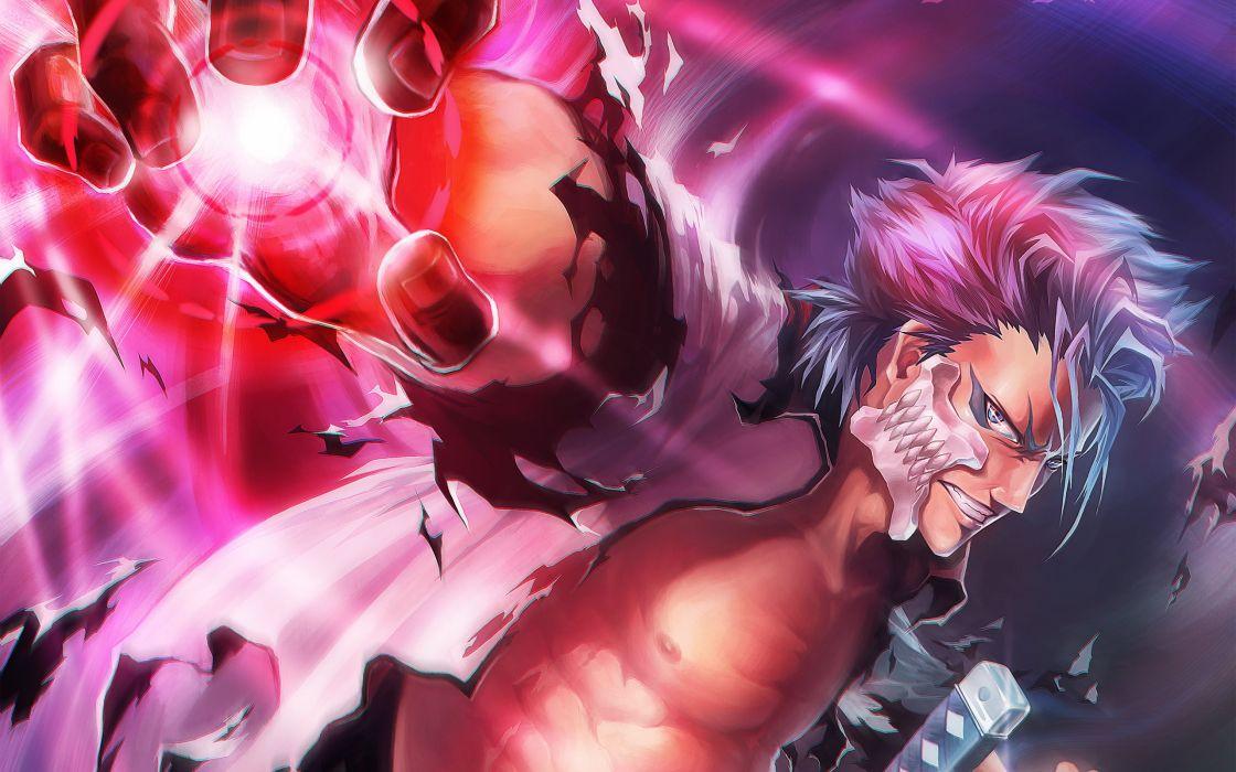 anime series hand guy mask Bleach Art wallpaper