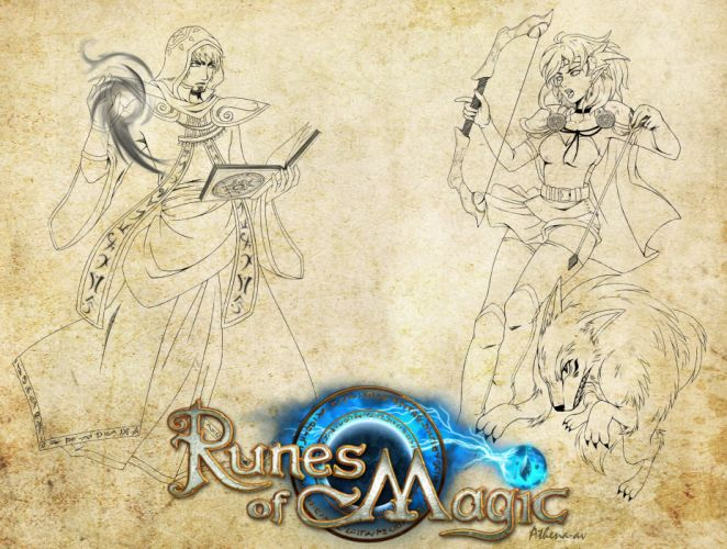 RUNES OF MAGIC mmo rpg fantasy fighting wallpaper