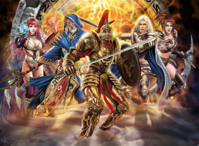 RUNES OF MAGIC mmo rpg fantasy fighting wallpaper