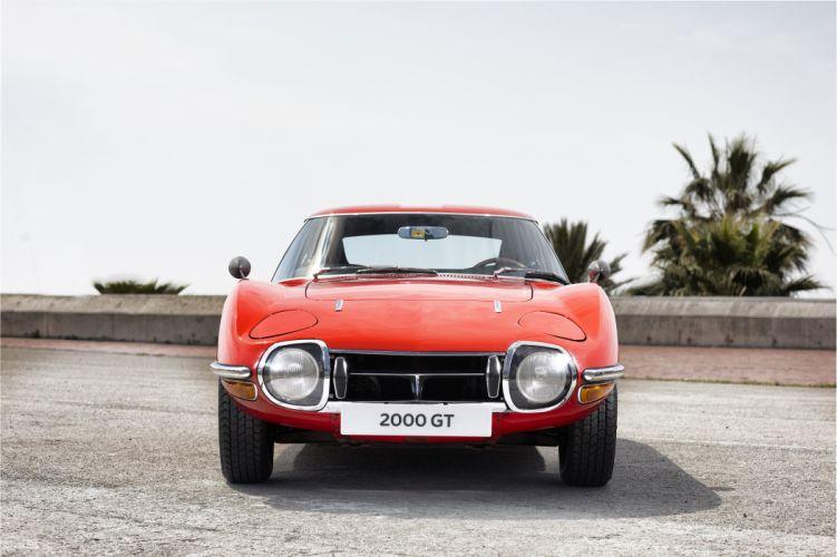 1967 Toyota 2000GT US-spec MF10 classic supercar wallpaper