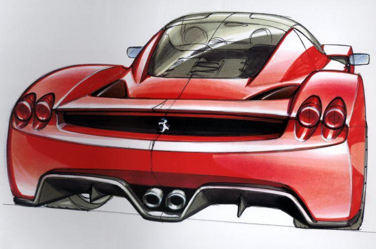 2002 Ferrari Enzo supercar wallpaper