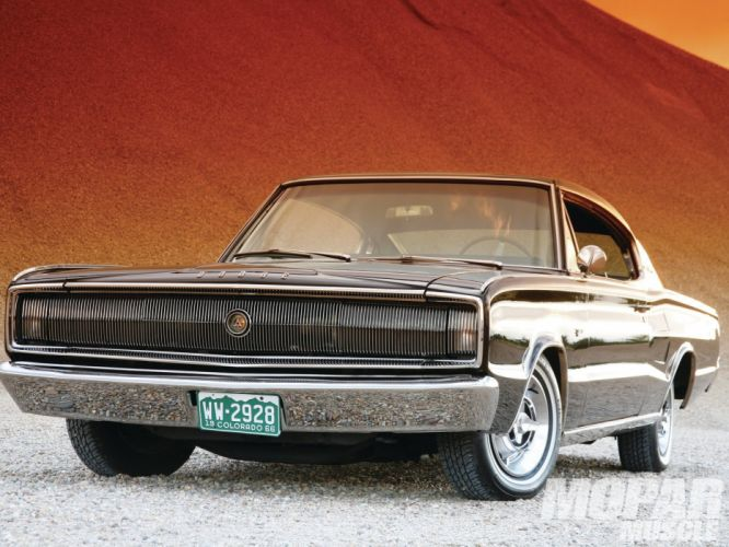 1966 Dodge classic Charger muscle cars mopar usa wallpaper