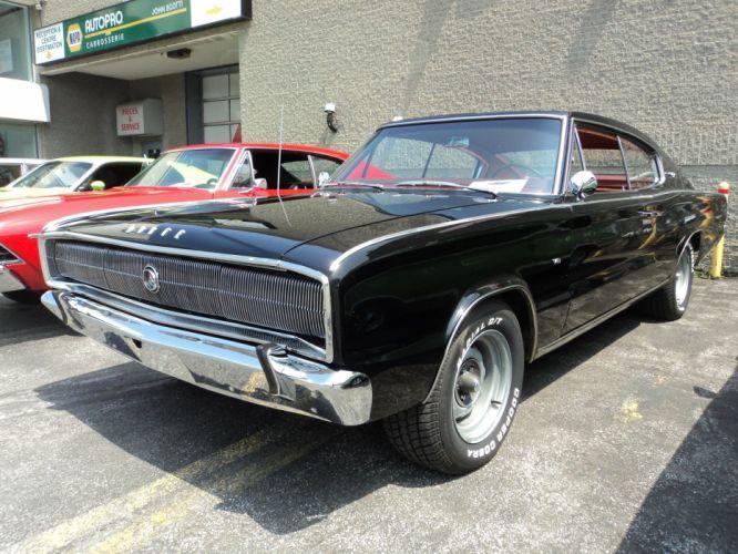 1966 Dodge classic Charger muscle cars mopar usa wallpaper