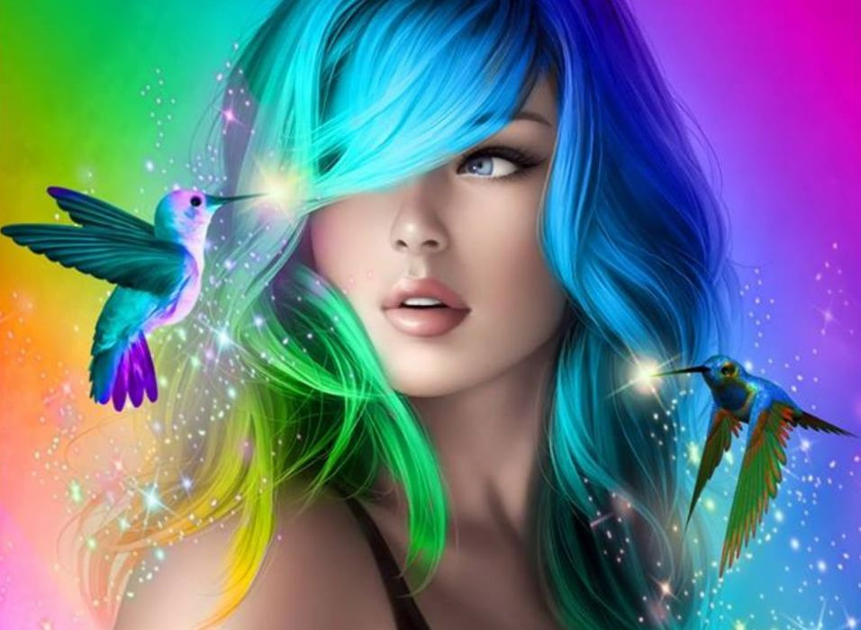face beautiful woman fantasy girl wallpaper