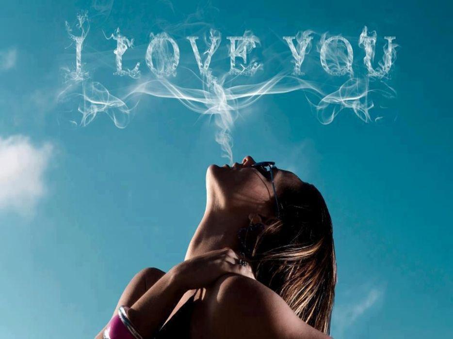 lovely sensual I love you girl face smoke white beautiful smoke inscription fine woman smoking girl cigarette smoking pretty female lips wallpaper