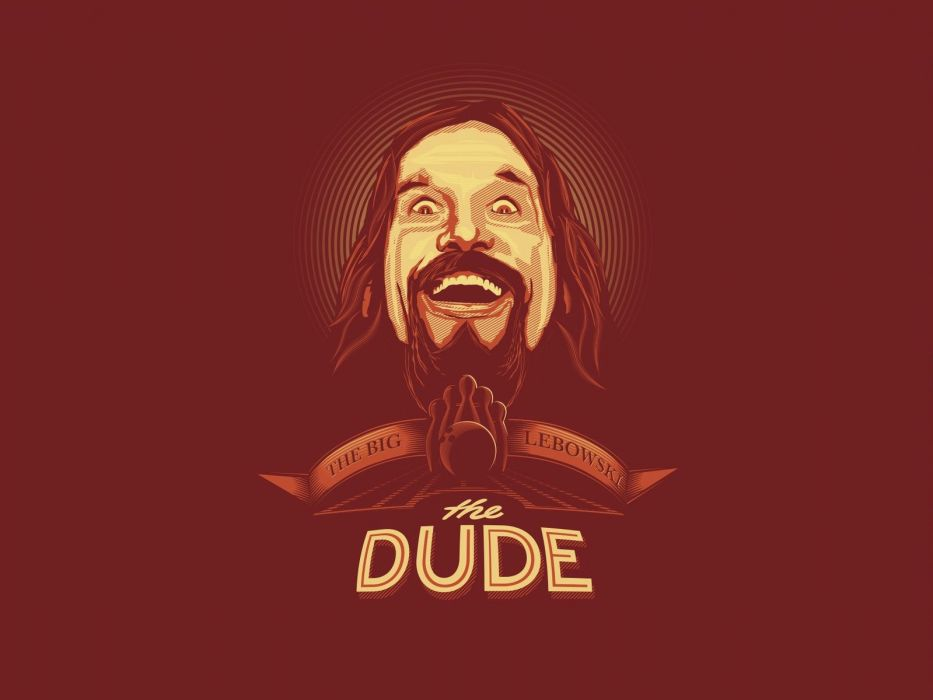 the big lebowski dude film red wallpaper