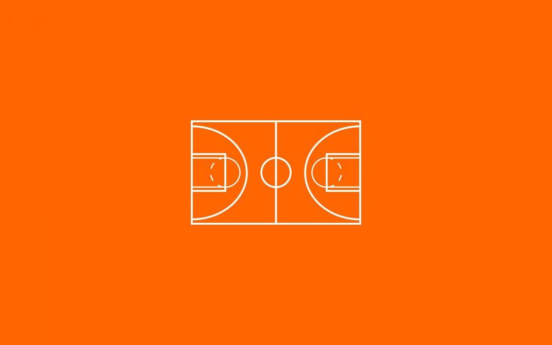 minimalism basketball court wallpaper