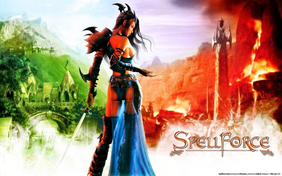 SPELLFORCE strategy fantasy rpg adventure wallpaper