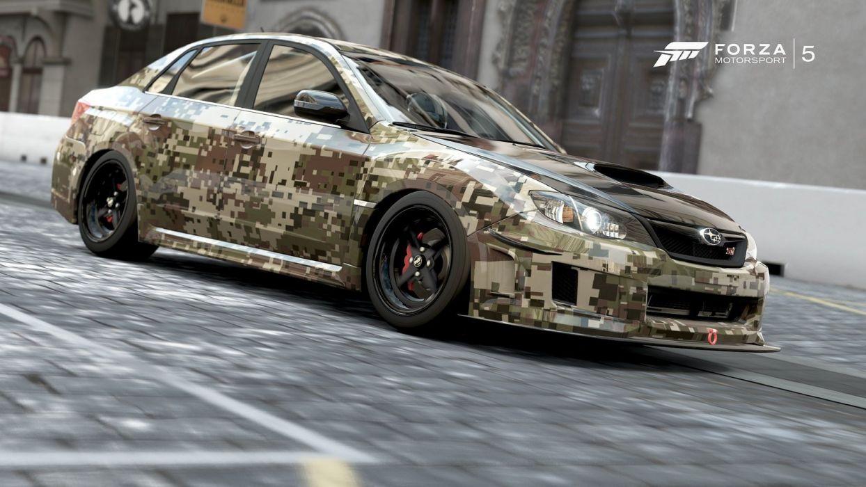 Subaru Impreza WRX Sti forza motorsport-3 cars videogames wallpaper