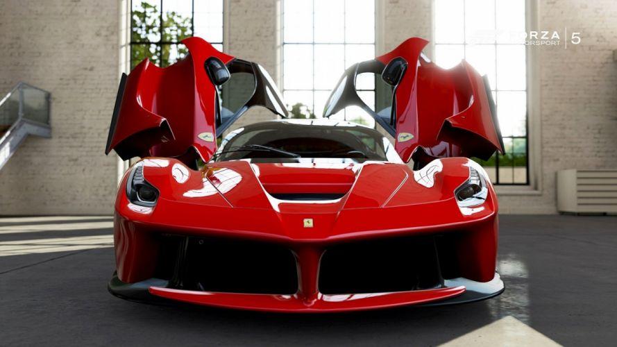 ferrari laferrari forza-motorsport-5 cars videogames wallpaper