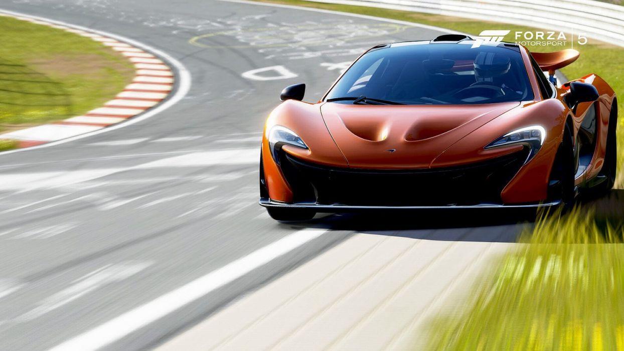 cars forza McLaren-p1 motorsport 5 videogames wallpaper