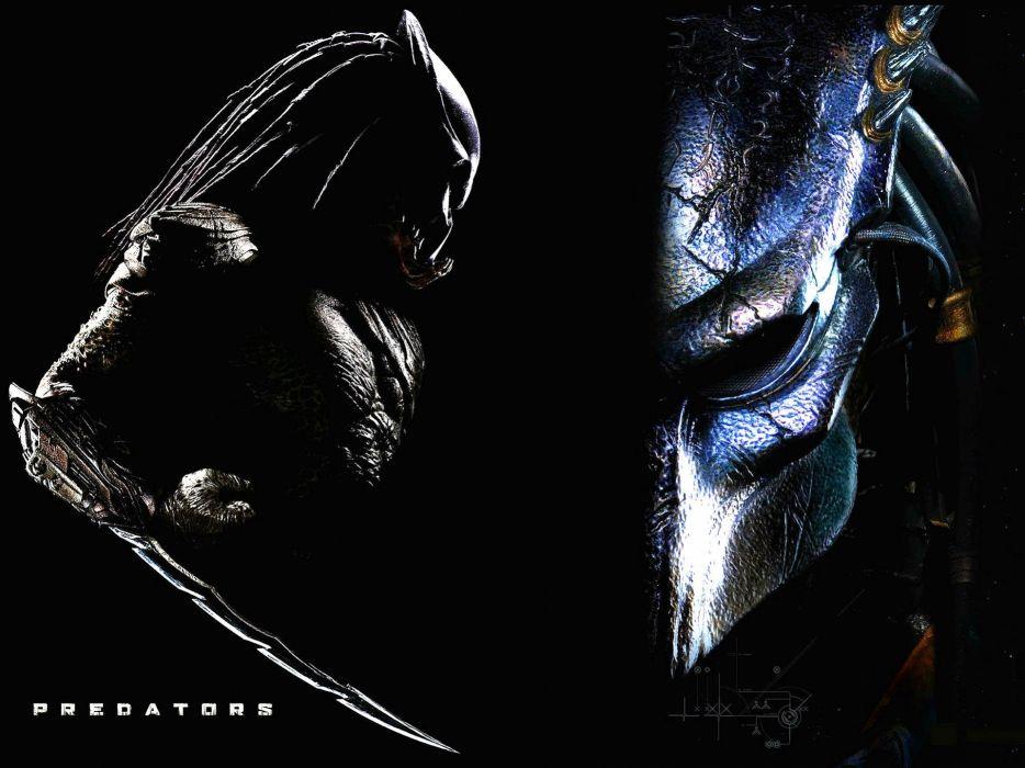 PREDATORS action adventure sci-fi predator alien wallpaper
