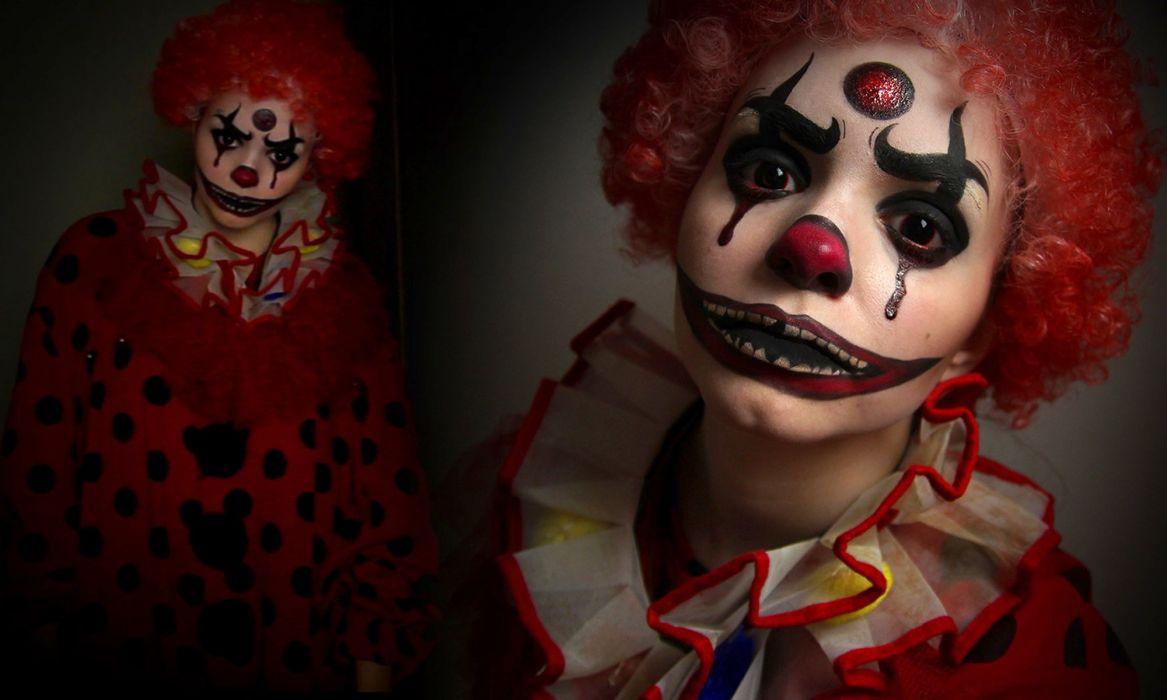 clowns clown fantasy dark halloween wallpaper