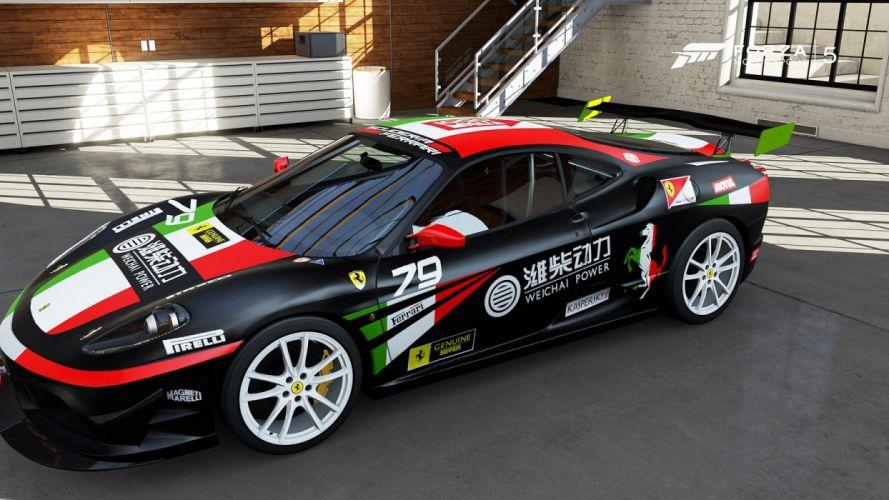 cars Ferrari forza motorsport videogames wallpaper