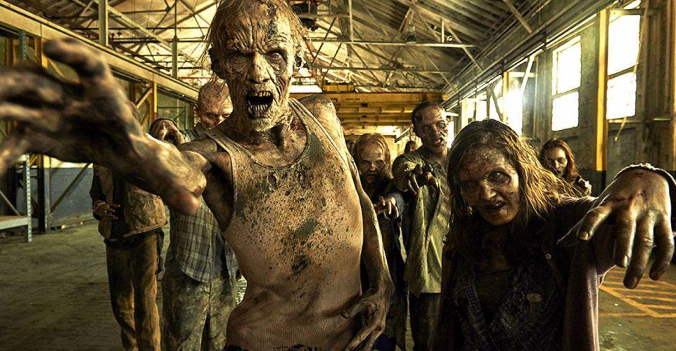 THE WALKING DEAD dark horror zombie series apocalyptic drama thriller wallpaper