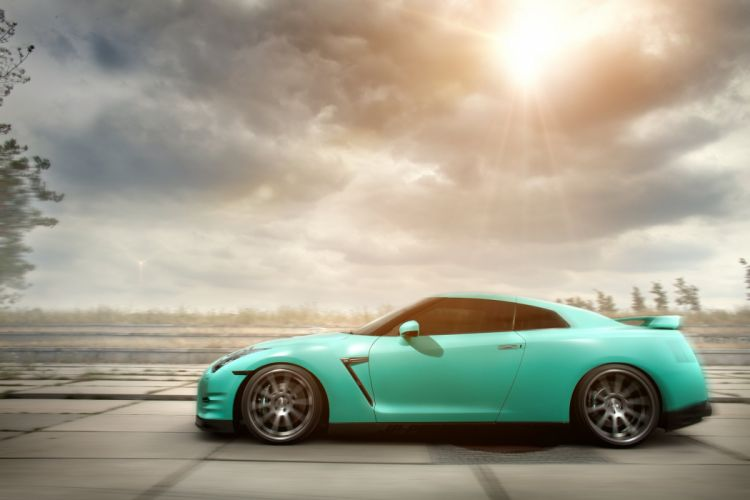 GT-R nismo Nissan R35 TUNING Supercar coupe japan cars green verte verde wallpaper