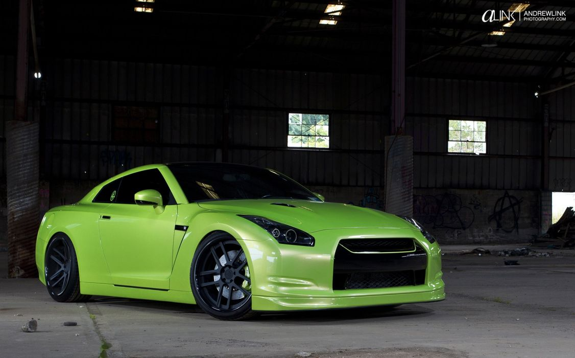 Gt R Nismo Nissan R35 Tuning Supercar Coupe Japan Cars Green Verte Verde Wallpaper 2000x1243 494946 Wallpaperup