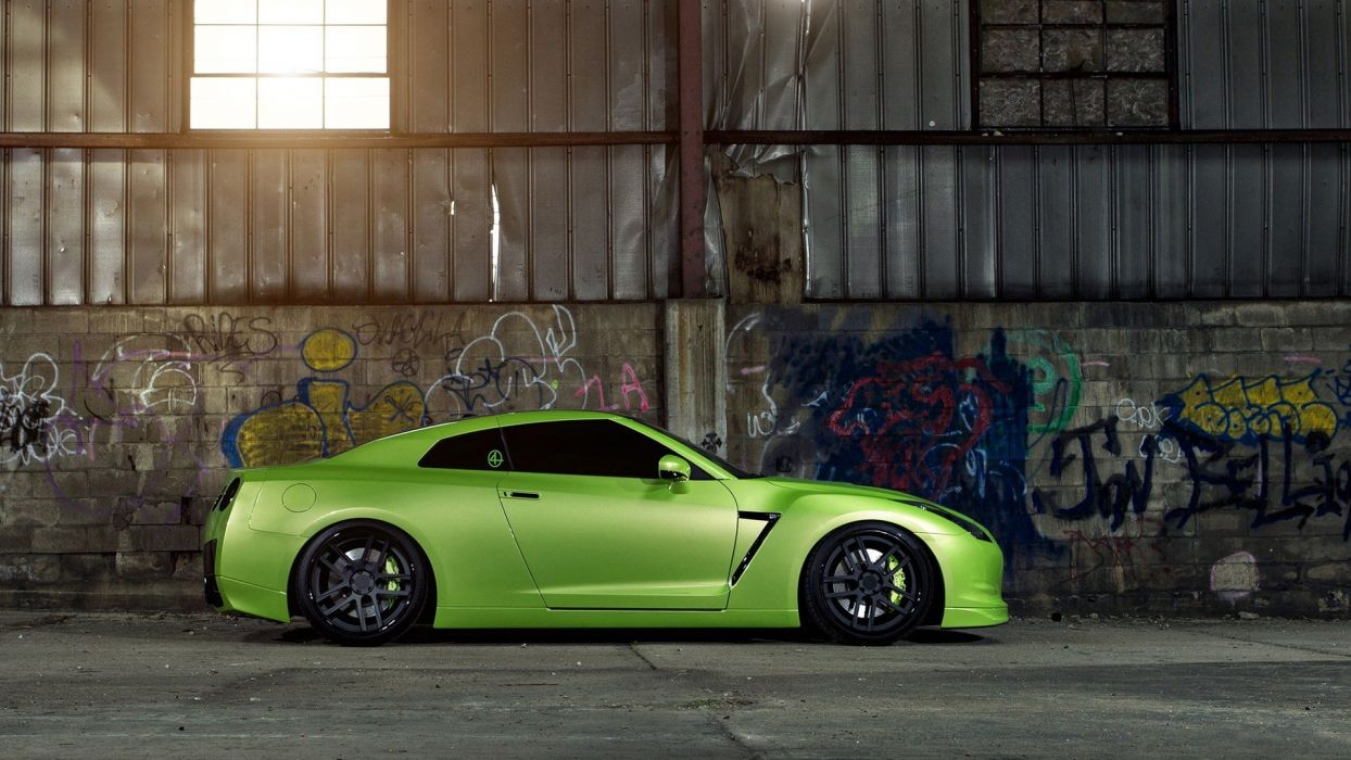 Gt R Nismo Nissan R35 Tuning Supercar Coupe Japan Cars Green Verte Verde Wallpaper 1920x1080 494954 Wallpaperup