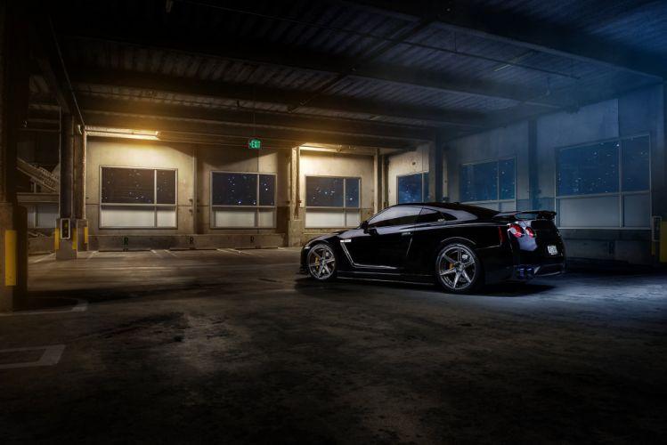 GT-R nismo Nissan R35 TUNING Supercar coupe japan noire black nero wallpaper