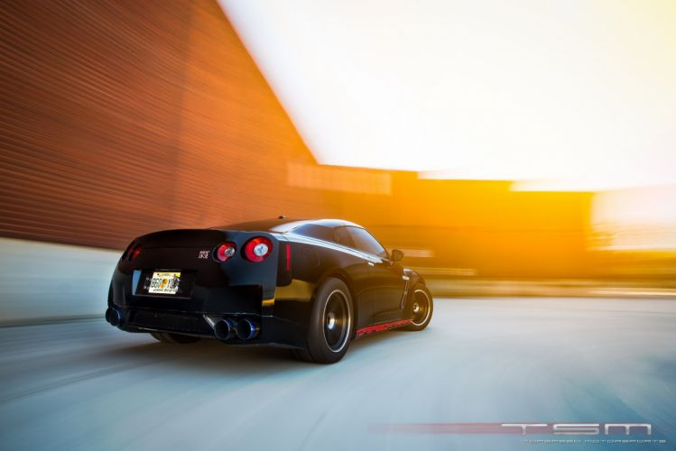 GT-R nismo Nissan R35 TUNING Supercar coupe japan noire black nero wallpaper