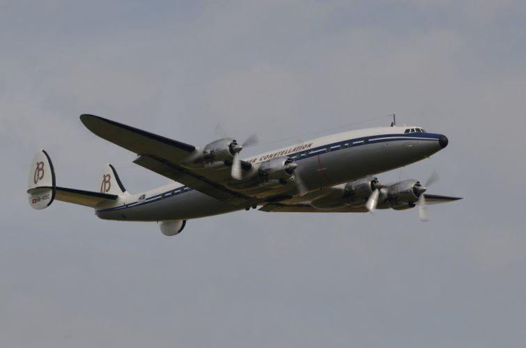 Lockheed Constellation airliner airplane plane transport aircrafts wallpaper
