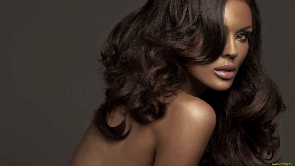 girl sexy beauty attractive lady lovely sweet brunette afro wallpaper