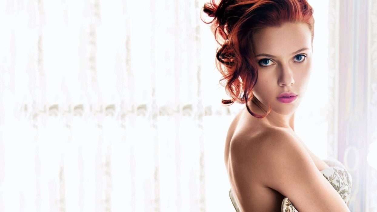 girl sexy beauty attractive lady lovely sweet redhead scarlet johanson wallpaper