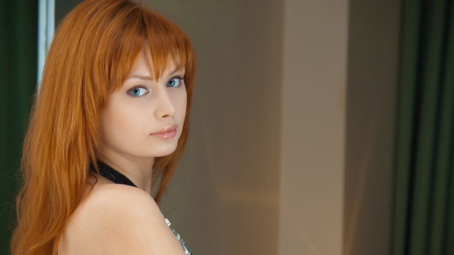 girl sexy beauty attractive lady lovely sweet redhead wallpaper