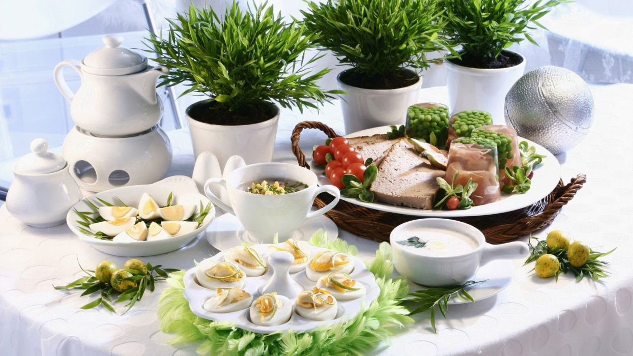 food viands delicious meal served wallpaper