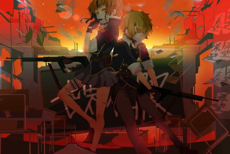 Anime Arms Short Hair Booms wallpaper