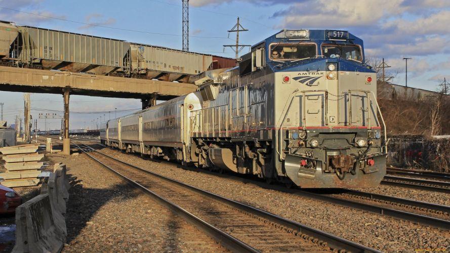 train locomotive rails wallpaper