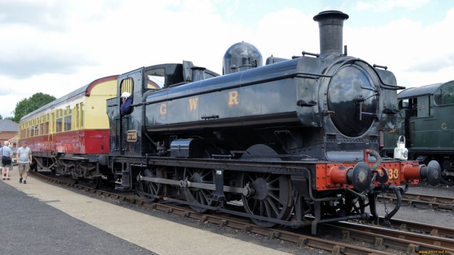 train locomotive rails old wallpaper