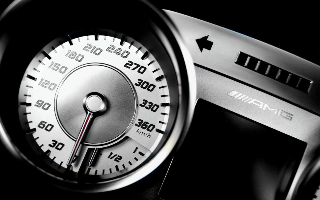 Mercedes-Benz SLS AMG Speedometer wallpaper