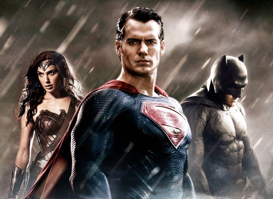 BATMAN-v-SUPERMAN adventure action batman superman dawn justice wonder woman wallpaper