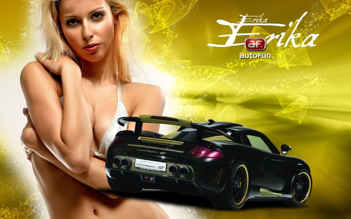 girl and car wallpaper