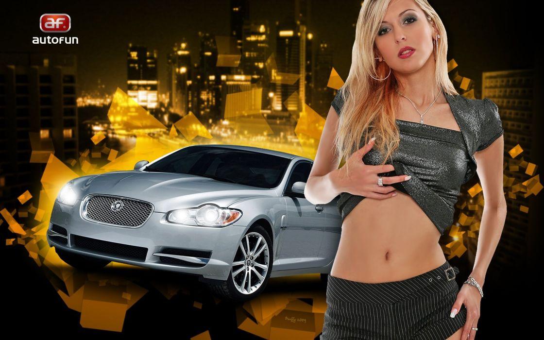 car and girl wallpaper