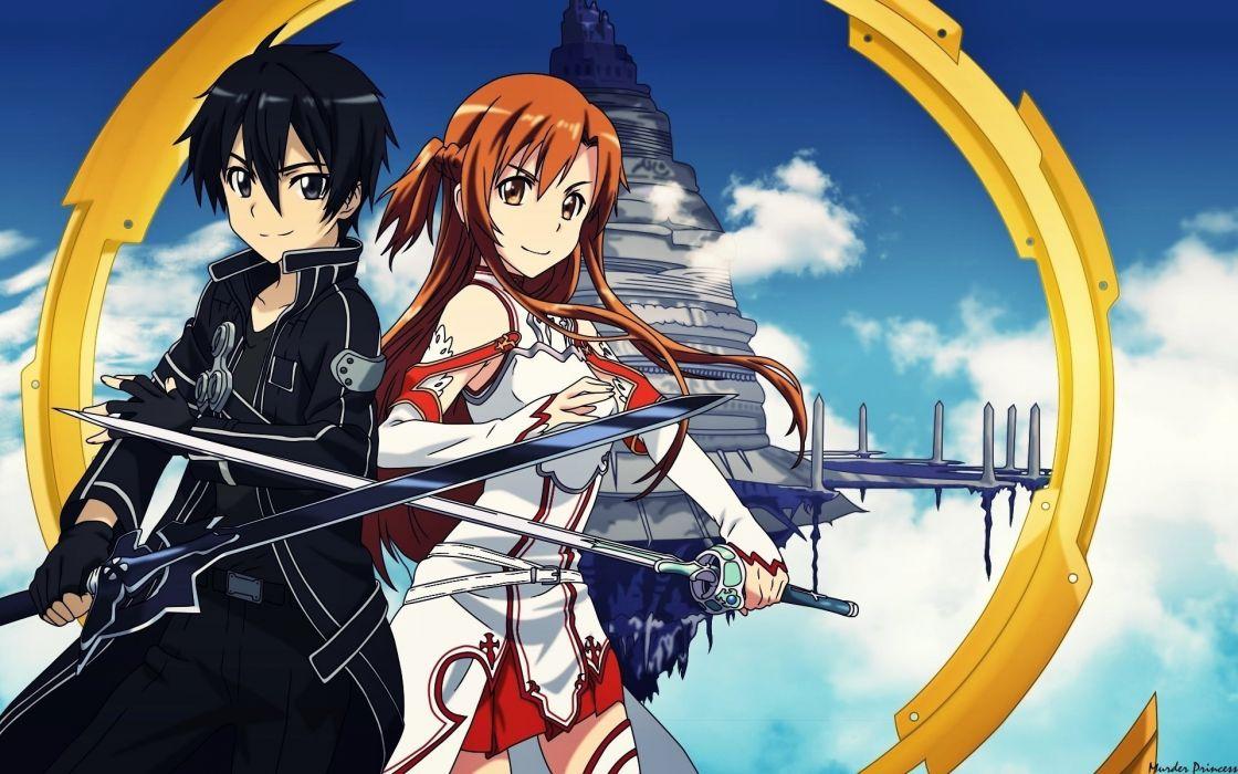 Kirito Asuna swordsman online sword rapier wallpaper