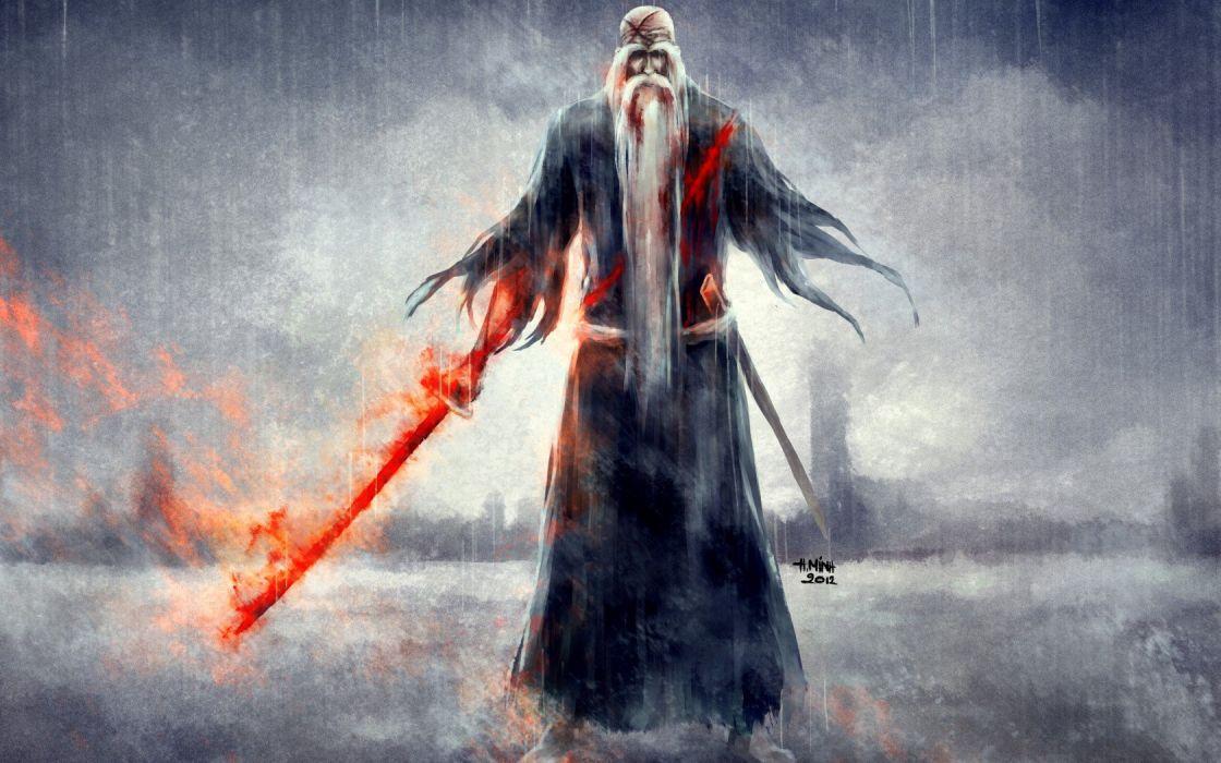 grandfather sword blood rain Bleach wallpaper