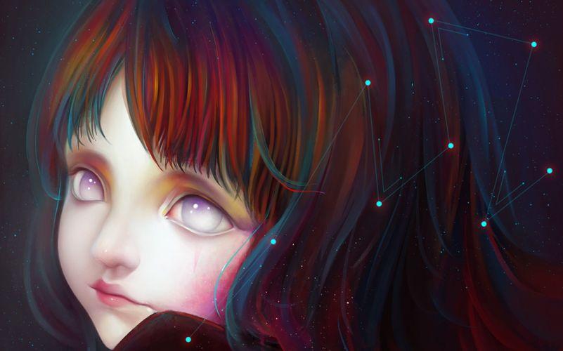 girl constellation Close-up Star wallpaper
