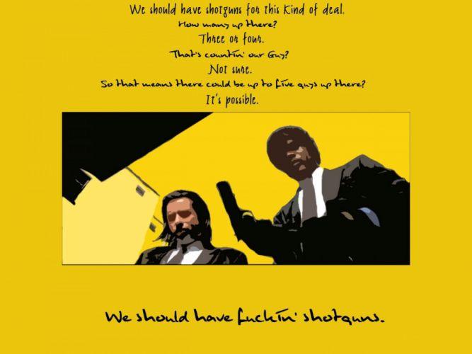 PULP FICTION crime thriller drama comedy sadic wallpaper